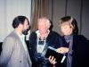 Michael Neidich, Leon Uris, Priscilla Higham, Riga, Latvia, 1989, co Frank Brod
