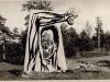 Временный памятник, воздвигнутый в Румбули активистами Риги в 1964 году, п.а. Эли Валк