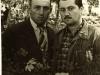 Давид Хавкин, Узник Сиона (у.с.) Москва (слева) с Иосифом Шнайдером, у.с., Рига,  в исправительно трудовом лагере,  1956 год, п.а. Д.Хавкина.