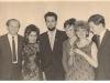Слева направо (л-п) Моше Мельман, Тамара ?, Мордехай Лапид (Марк Блюм), Полина Кацман, Маргалит Шпильберг (Соломяк), Моше Мейрович, персональный архив (п.а.) А. Шпилберг.