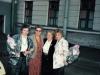 From the left: Alla Kelman, Vera Sheiba, Shirley Goldshtein, ?. Leningrad, 19??. co RS