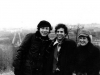 1977. American Jews visit Moscow refuseniks. From the left: Veniamin Bogomolny, Steve Riskin USA, Olga Serova. Moscow, winter of 1977,  co  RS