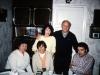 Sitting: Galina Zelichenok, Maxine Rosen, ?; standing Bunny and Frank Brodsky co, Leningrad,  1985