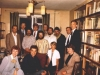 1983. Visit of Sen. William Armstrong and Congressman Jack Kemp to a seminar of the scientists-refuseniks which was held in the apartment of Abram Kagan. From the left: sitting - ?, Yakov Rabinovich, Joanne Kemp, Galina Zelichonok; standing: 1st row – Evgeny Gilbo, Abram Kagan, Gregory Genusov, Evgeny Lein, Yuri Shpeizman, Roald Zelichonok, ?; 2nd row – Sen. William Armstrong, Congressman Jack Kemp, Lev Shapiro. Leningrad, June 1983, co RS