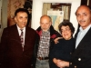 In the Taratutas apartment. From the left: Zalman Zaichik, Aba Taratuta, Ida Taratuta, a guest from Switzerland Freddi Zaks. Leningrad, 197?, co RS