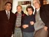 In the Taratutas apartment. From the left: Zalman Zaichik, Aba Taratuta, Ida Taratuta, a guest from Switzerland Werner Guggenheim. Leningrad, 197?. co RS