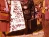 Demonstration on behalf of Anatoly (Natan) Shcharansky. From the left: Natasha Utevsky, Etka Leibowitz, Vitaly Rubin. A poster was made by Lev Utevsky. Jerusalem, 1982