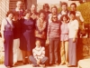 1978. UCSJ in Jerusalem. From the left: 1st row - Dina Beilin, Lorel  Pollack, Irene Manekofsky, Enid Wurtman, Lucy Luntz, June Daniels, Adele Sandberg; 2nd row – Sid Manekofsky,Yosef Beilin, ?, Stuart Wurtman, Misha Steiglitz, Joel Sandberg. Sitting Elane Dubow,  Spring 1978. co RS