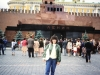 Bunny Brodsky co in Red Square in Moscow, 1985,