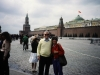 Elliot and Maxine Rosen in Red Square with the Kremlin in the background, Moscow, 1985, co Frank Brodsky