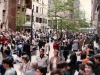 1984. People are lining up on side streets for March of solidarity with Soviet Jews. New York,  5th Avenue, 1984. co RS
