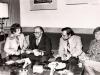 Israeli Prime Minister Menachem Begin receives representatives of American Jewish activists from UCSJ. From the left: Lynn Singer, Menachem Begin, Bob Gordon, Shirley Goldstein. Israel, 19??. co RS
