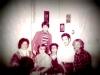 Enid Wurtman co, Leonid Slepak (standing), Maria Slepak, Alexander Slepak, Jules Lippert, Vladimir Slepak, Moscow, October 1976