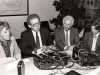 Press-conference on the Soviet Jewry issue. From the left: Hon. Flora MacDonald, Hon. David Smith, Ian Deans, Sharon Wolfe. Montreal, Canada, co RS