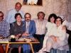 Sitting:  Elliot Rosen, Ludmila Shrayer, David Shrayer, Vladimir Slepak, Bunny Brodsky co, Maria Slepak; standing: Frank Brodsky, Moscow, 1985