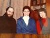 From the left: Yitzchak Kogan, Miriam Bisk, Sofia Kogan, Leningrad, 1983