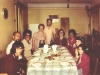 1975. Gaffin family (England) meets with Aba and Ida Taratuta in the Khaikins apartment.  From the left: Michael Gaffin (son of Jean Gaffin), Aba Taratuta, Ida Taratuta, Asta Khaikin, Benjamin Khaikin, Daniel Khaikin, Jean Gaffin, Aiya Khaikin, Rachel Gaffin (daughter of Jean Gaffin). Leningrad, 1975. co RS