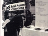 At the Simchat Torah day Montreal 35s obtain signatures on a petition for Prisoners in a downtown square, at lunchtime. They served samples of food that Prisoners receive in a Soviet Prison camp to passersby. Montreal, September, 1976. co RS