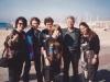 Bunny Brodsky , Eli Kosharovsky, Inna Kosharovsky, Moti Kosharovsky, Yuli Kosharovsky, Julie Brodsky, beach of Tel Aviv 1990, co Frank Brodsky