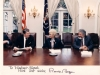Ronald Reagan meets with Vladimir Slepak co, and Shoshana Cardin in the White House on Human Rights Day, December 10, 1987