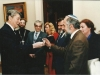 President of the United States, Ronald Reagan presents former POZ Yosef Begun his personal Prisoner of Zion bracelet which he wore during Yosef's imprisonments, Washington, DC, May, 1988, co Enid Wurtman