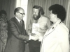 Adele Sandberg, Prime Minister Menachem Begin, Stuart Wurtman, Enid Wurtman co, Union of Councils for Soviet Jewry International Conference for Soviet Jewry, Jerusalem, spring 1978