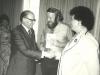 Adele Sandberg, Prime Minister Menachem Begin, Stuart Wurtman, Enid Wurtman co, Union of Councils for Soviet Jewry International Conference for Soviet Jewry, Jerusalem, spring 1978