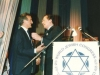 Elie Weisel and Edgar Bronfman,World Jewish Congress event honoring former refuseniks, former Prisoners of Zion, and Soviet Jewry activists at the Diapora Museum, Israel, 1990?, co Enid Wurtman