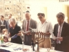 ?, US Ambassador Brown, Shmuel Ben Tsvi, Yuli Kosharovsky.  Meeting with US Ambassador in honor of Pesach, the Festival of Freedom in honor of refuseniks, April, 1989, co Enid Wurtman