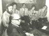 Prime Minister Menachem Begin, Stuart Wurtman, Enid Wurtman, Joel Sandberg, Adele Sandberg, Glenn Richter, UCSJ International Conference in Jerusalem in behalf of Soviet Jewry, spring, 1978, co Enid Wurtman