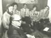 Prime Minister Menachem Begin, Stuart Wurtman, Enid Wurtman, Joel Sandberg, Adele Sandberg, Glenn Richter, UCSJ International Conference in Jerusalem in behalf of Soviet Jewry, spring, 1978, co Enid Wurtman