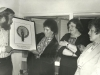 Stuart and Enid Wurtman - Presentation  to Irene Manekofsky, President of Union of Councils for Soviet Jewry, of Evgeny Abezgauz's lithograph from UCSJ for her dedication to Soviet Jewry, Lynn Singer; UCSJ International Conference in behalf of Soviet Jewry in Jerusalem, 1978