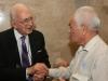 Soviet Jewry Activists' reunion  in Knesset co, Jerusalem, November  2,  2010. Mchael Sherbourne and  Lazar Lubarsky, former POZ