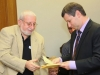 Stanislav Misezhnikov presents the honorary certificates to Soviet Jewry Activists'  Daniel Katz in Knesset co, Jerusalem, November  2,  2010