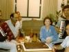 Members of Israeli delegation in the hotel Kosmos in Moscow, September 1985. Shmuel Shatsky, Itskhak Dior co,?, Dita Gurevicn co, Avital Simon, Moshe Melamed.