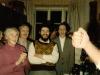 Farewell party for Israeli delegation at Kholmiansky apt.  Moscow, September 10, 1985. From the left: ?, Irina Brailovsky, Yulian Khasin, Zeev Geizel, Mikhail Kholmiansky
