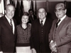 L-r; Senator Henry Jackson, Sara Frenkel, head of Nativ Nechemia Levanon, president of WZO Arieh Dulzin,  Washington, 1982,