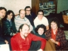 Enid Wurtman meets with Jewish activists in Moscow, October 1976. L-r second row: Yuri Berkovsky, Rita Beilin, Anatoli Sharansky, Leonid Volvovsky, Ida Nudel. First row: Iosif Beilin, Dina Beilin, Enid Wurtman co.