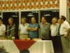 Reception of Israeli delegation returned to  Israel from  International Book Fair in Moscow, September 1985: ? Shmuel Shatsky, Yakov Levinger, Rafi Neeman,?, Moshe Melamed, Dita Gurevich, Itskhak Dior co.