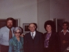 At a meeting with Prime Minister Begin. Stuart Wurtman, Aliza Arnold-Begin, Menachem Begin, Enid Wurtman, Jerusalem 1978
