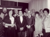 Loral Pollack, Stuart Wutman, Irene Manekovsky, Michael Sherbourne, Nechemia Levanon, Adele and Joel Sandberg, Menachem Begin, Syd Manekovsky, Lynn Singer, Glenn Richter, Enid Wurtman, Jerusalem 1979