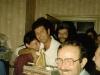 Farewell party for Israeli delegation at Mikhael Kholmiansky's apt.  Moscow, September 10, 1985. From the left: Tania Edelstein, Irina Shchegoleva, Avital Simon , Mark Zolotarevsky, Itskhak Dior co, Dubrovsky , Aron Gurevich, Yulian Khasin