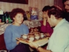 Farewell party for Israeli delegation at Kholmiansky apt.  Moscow, September 10, 1985. Tania Edelstein presents souvenirs to Itshak Dior co.
