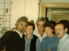 Farewell party for Israeli delegation at Kholmiansky apt.  Moscow, September 10, 1985. Yuli Kosharovsky, Dita Gurevich, Shmulik Shatsky, Tania Edelstein, Itskhak Dior