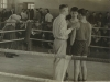In the boxing competition, Sverdlovsk,  1960. Yuli Kosharovsky co,  in the ring in the middle.