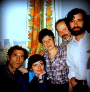 Слева-направо: Игорь Гурвич, Ольга Иоффе, Жанна и Евсей Литвак, Элиезер Юзефович, архив Розы Финкельберг.