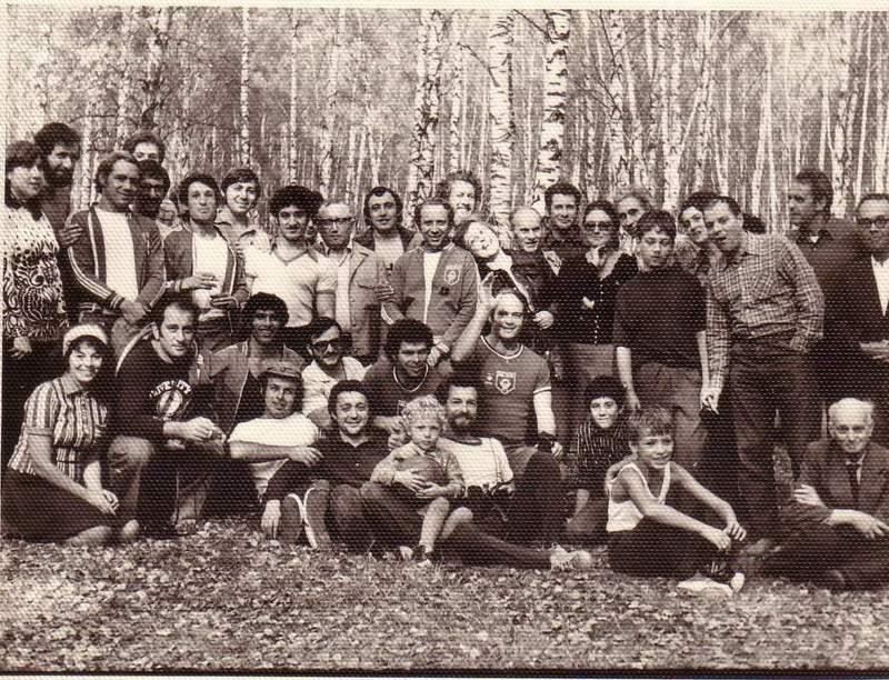 На встрече с израильскими спортсменами в лесу под Москвой