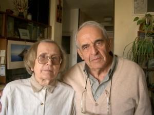 Людмила и Александр Лунц во время интервью, Иерусалим, 2004