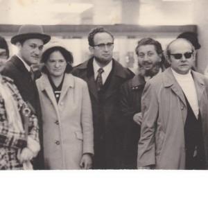 Отъезд Арона Шпильберга, Москва, 1974. Арон Шпильберг, Виктор Польский, Владимир Слепак, Кирилл Хенкин