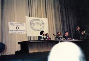 В президиуме учредительного съезда Ваада, Москва, декабрь 1989